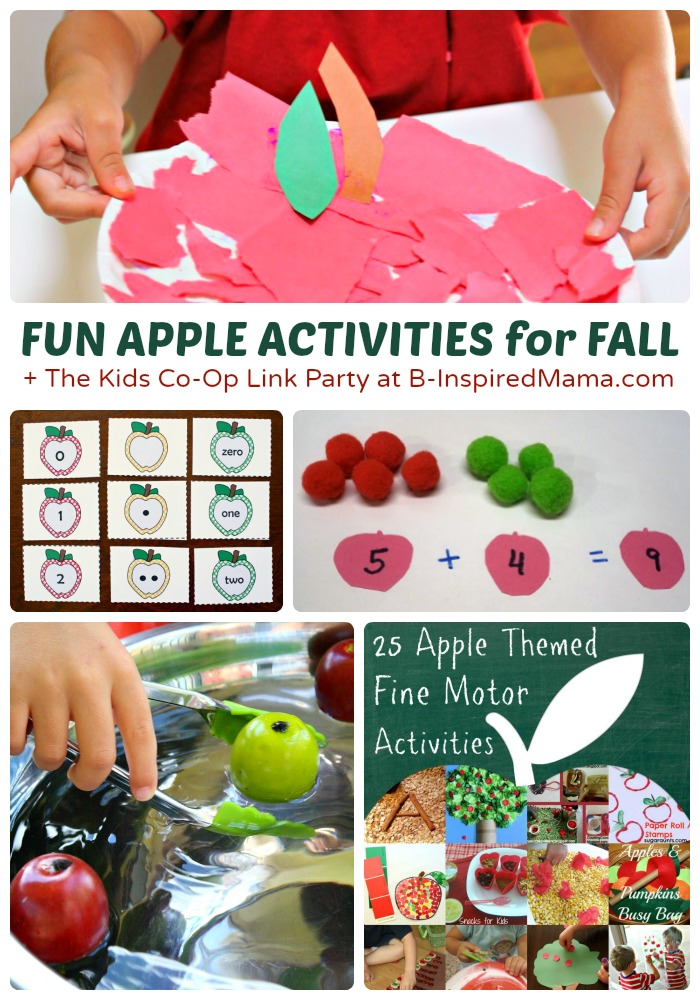 26+ Fun Fall Activities for Kids - Exploring Apples & Nature - + The Kids Co-Op Link Party at B-Inspired Mama