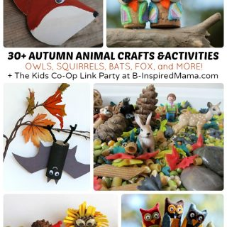 30+ Autumn Animal Activities and Crafts for Kids + The Kids Co-Op Link Party at B-Inspired Mama