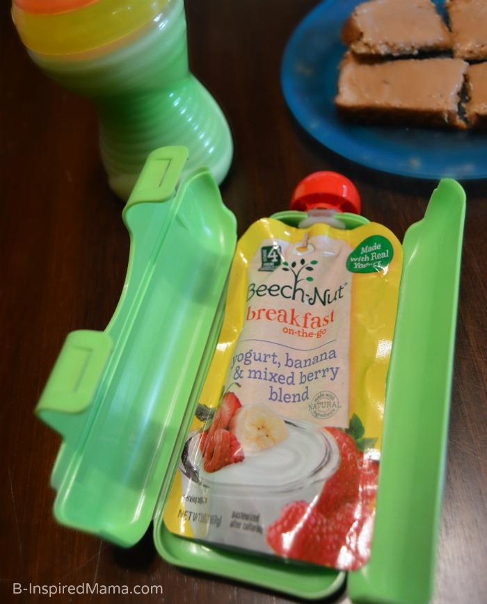 Make Toddler Feeding Less Messy and MORE Independent with EasyPouch - #sponsored B-Inspired Mama