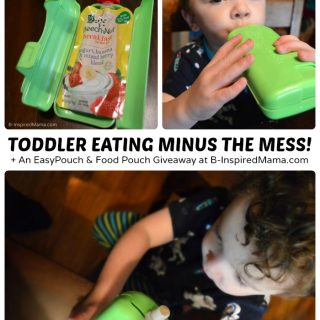 Toddler Feeding without the Mess! + An EasyPouch and Food Pouch Giveaway [#sponsored] at B-Inspired Mama