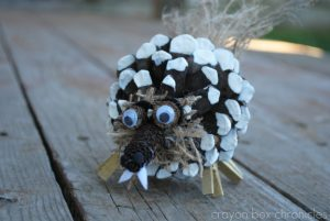Squirrel Pine Cone Craft + More Autumn Animal Activities at B-Inspired Mama