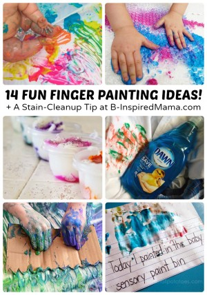 14 Fun Finger Painting Ideas + A Stain-Cleanup Tip [#Sponsored by #DawnBeyondTheSink] at B-Inspired Mama