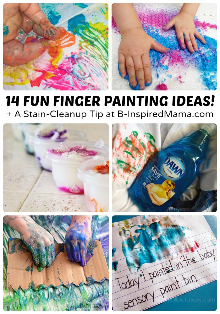 14 Fun Finger Painting Ideas A Stain Cleanup Tip Sponsored By