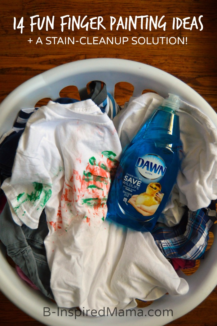 14 Super Fun Finger Painting Ideas + A Stain-Cleanup Solution [#Sponsored by #DawnBeyondTheSink] at B-Inspired Mama