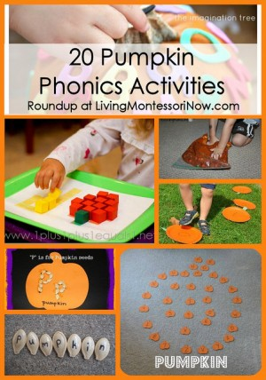 Pumpkin Phonics Activities + 16+ Pumpkin Themed Early Learning Ideas at B-Inspired Mama