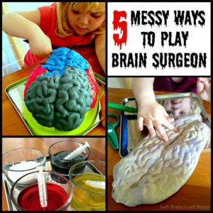 Messy Brain Surgery + 50+ Kids Halloween Party Ideas at B-Inspired Mama