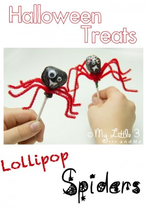 Spider Lollipops + 50+ Kids Halloween Party Ideas at B-Inspired Mama