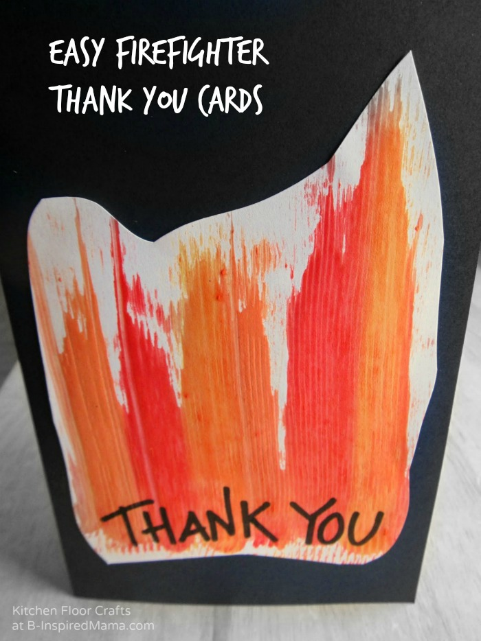 Making Homemade Cards for Firefighter | B-Inspired Mama