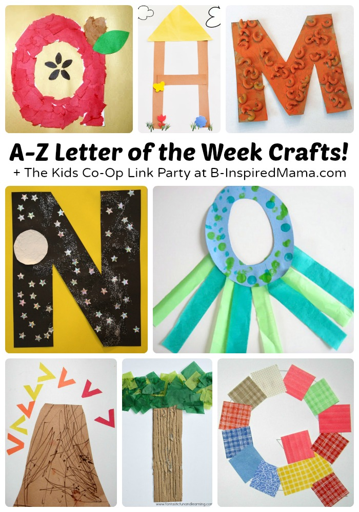 A to z cute letter of the week crafts for preschoolers for Letter k crafts for toddlers