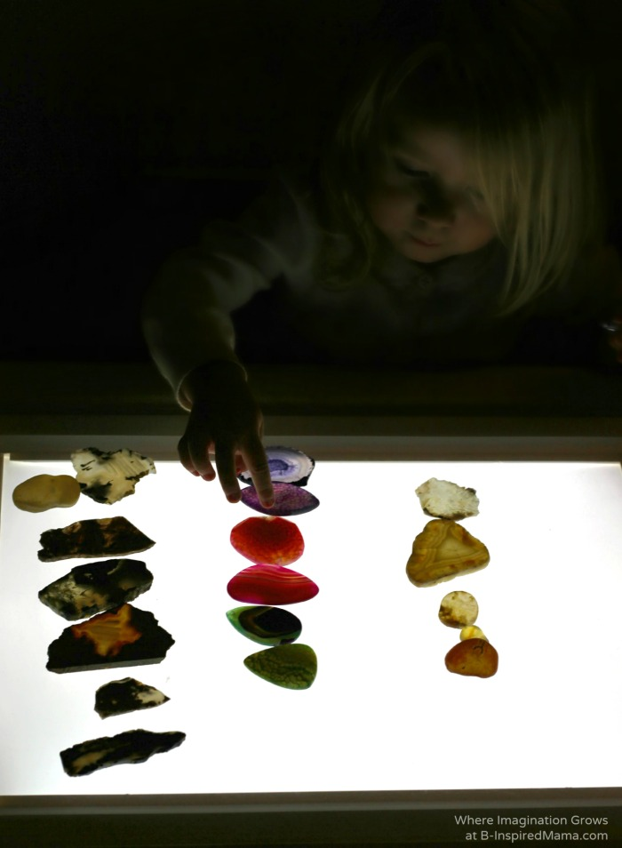 Light Table Geology Science for Kids at B-Inspired Mama