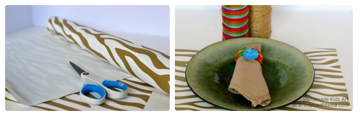 Making Thanksgiving Placemats - Thanksgiving Crafts for Kids at B-Inspired Mama