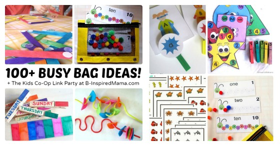 over 100 awesome busy bag ideas for toddlers and preschoolers
