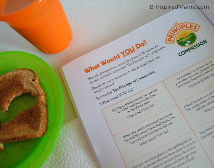 Reading Our Children's Book About Compassion Over Breakfast+ 12 Ways to Teach Kids About Compassion [#sponsored #HTCompassion] at B-Inspired Mama