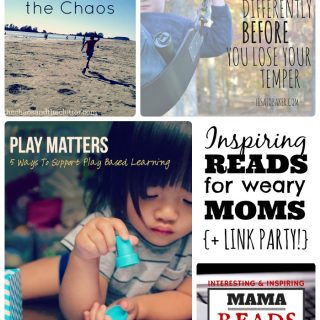 This Week's Encouraging Reads for Moms - Play, Tempers, Ninjas, and MORE!+ The Mama Reads Monday Link Party at B-Inspired Mama