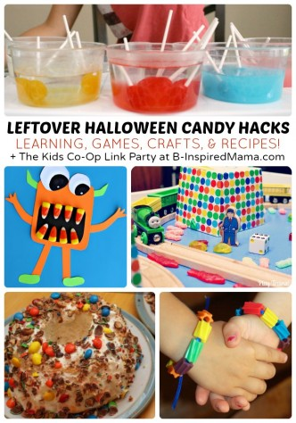 What to Do With Leftover Halloween Candy + The Kids Co-Op Link Party at B-Inspired Mama