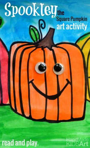 Pumpkin Shapes Art Project - 16+ Pumpkin Theme Early Learning Ideas + The Weekly Kids Co-Op Link Party at B-Inspired Mama