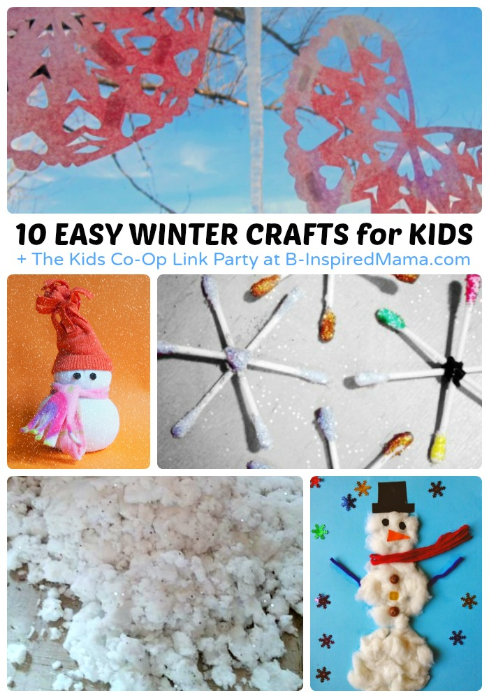 Easy Winter Kids Crafts That Anyone Can Make: Easy Winter Crafts For Kids + The Kids Co-Op Link Party