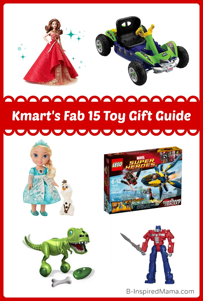 {Holiday Gift Guide 2014] The Kmart Fab 15 Toy Wishlist at B-Inspired Mama #sponsored #Fab15ToysCGC