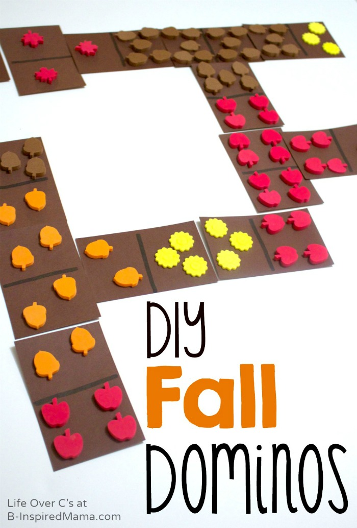Make DIY Fall Dominos for Cool Math Games - B-Inspired Mama