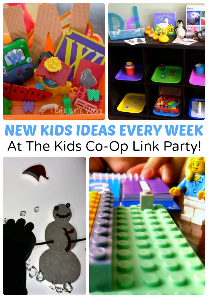 New Creative Kids Ideas Every Week at The Kids Co-Op Link Party at B-Inspired Mama