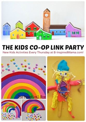 New Kids Activities Every Thursday at The Weekly Kids Co-Op Link Party at B-Inspired Mama