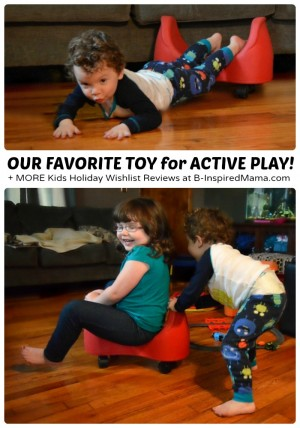 Our Favorite Toy for Active Indoor Play - The Fun and Function Soft Saddle Scooter + MORE Kids Holiday Wishlist Reviews [AND a CASH Giveaway!] at B-Inspired Mama