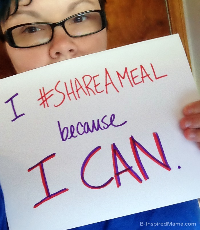 Why I #ShareAMeal + A Random Act of Kindness to Fight Hunger at B-Inspired Mama #sponsored