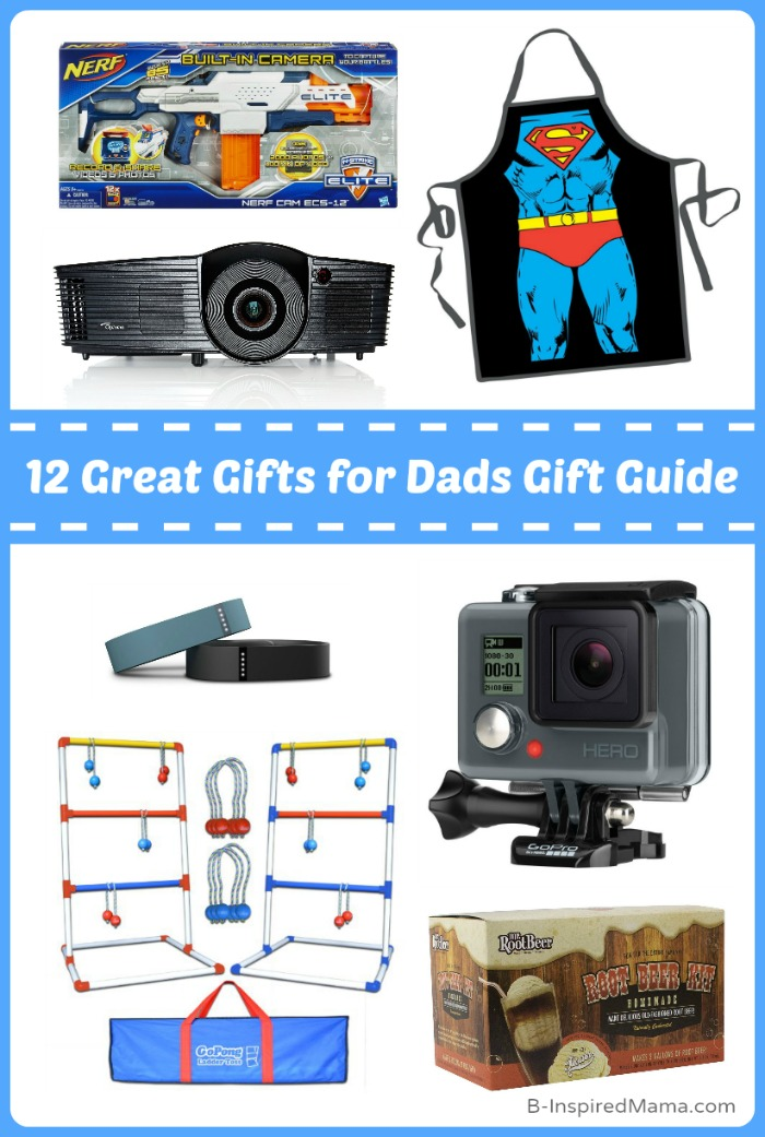 12 Great Gifts for Dad - A Holiday Gift Guide at B-Inspired Mama (#sponsored #LoveFreeShipping #CleverGirls)