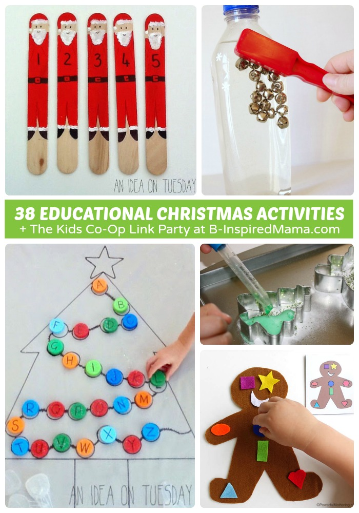38 Educational Christmas Activities for Kids + The Kids Co-Op Link ...