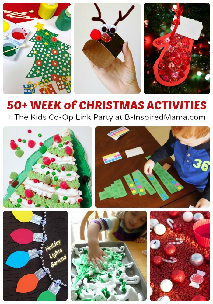 50+ Week of Christmas Activities for Kids + The Kids Co-Op Link ...