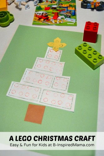 A Fun and Easy Christmas Tree Kids Christmas Craft [Sponsored by LEGO] at B-Inspired Mama