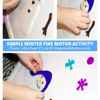 A Simple Winter Fine Motor Activity