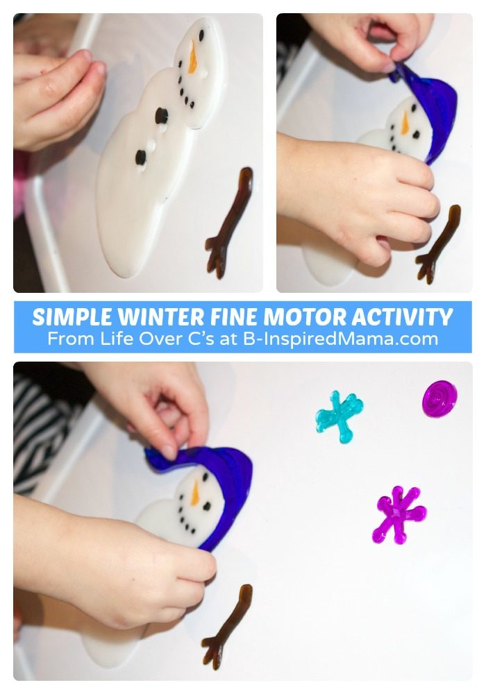 A Simple Winter Fine Motor Activity for Kids at B-Inspired Mama
