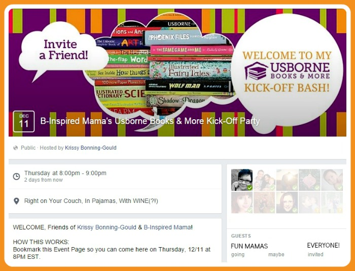 B-Inspired Mama's Usborne Books & More Kick-Off Party Event Page