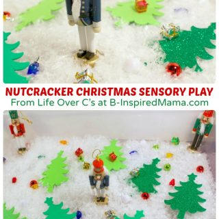 Nutcracker Christmas Sensory Play for Kids at B-Inspired Mama