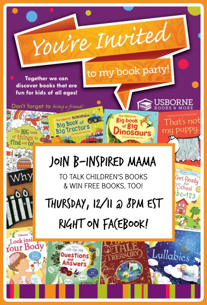 You're Invited to B-Inspired Mama's Usborne Books Kick-Off Party on Facebook