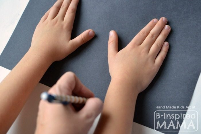 Catch a Snowflake - An Art Project for Kids - Tracing Hands - at B-Inspired Mama