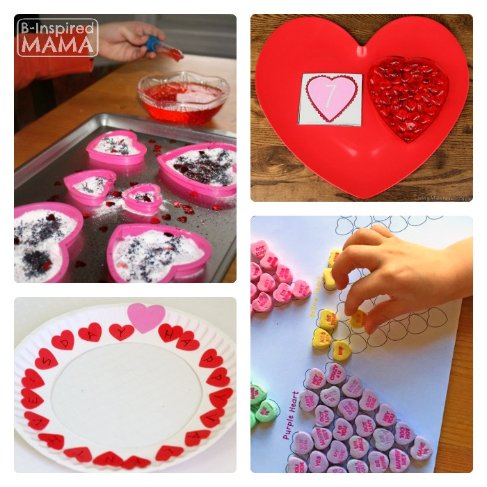 Fun Valentine's Day Early Learning Ideas + The Kids Co-Op Link Party at B-Inspired Mama