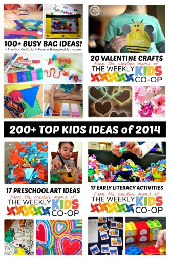 Over 200 of The Top Kids Activities and Ideas of 2014 [+ The Kids Co-Op Link Party] at B-Inspired Mama
