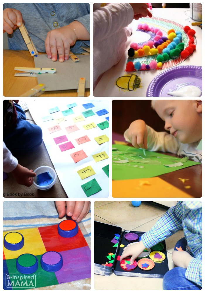 14 Creative Ideas for Learning Colors + The Kids Co-Op Link Party at B-Inspired Mama