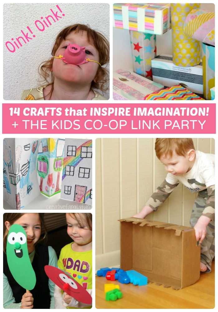 14 Fun Crafts that Inspire Imagination + The Kids Co-Op Link Party