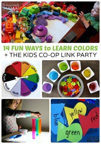 14 Fun Ideas for Learning Colors + The Kids Co-Op Link Party at B-Inspired Mama