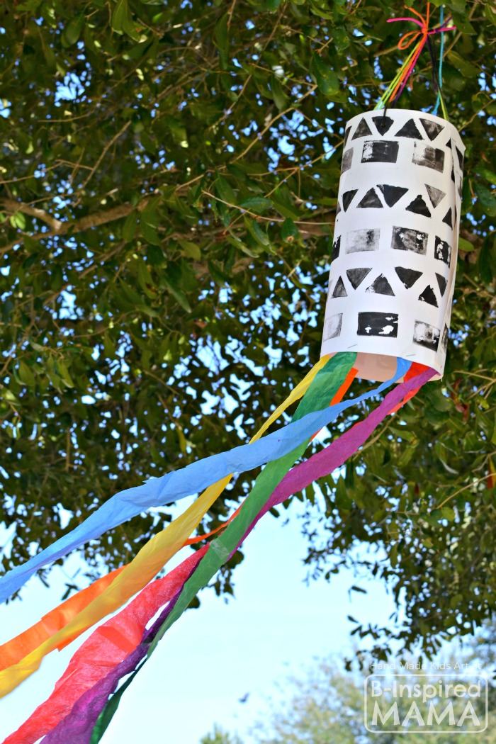 A STEAM Filled Windsock Art Project for Kids - Combining Science, Technology, Engineering, Art, and Math at B-Inspired Mama