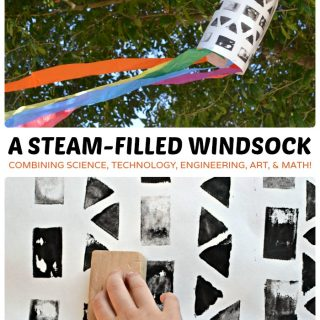 A STEAM Filled Windsock Art Project for Kids at B-Inspired Mama