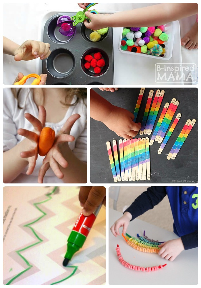 http://b-inspiredmama.com/wp-content/uploads/2015/02/Fun-Fine-Motor-Activities-for-Kids-The-Kids-Co-Op-Link-Party-at-B-Inspired-Mama.jpg