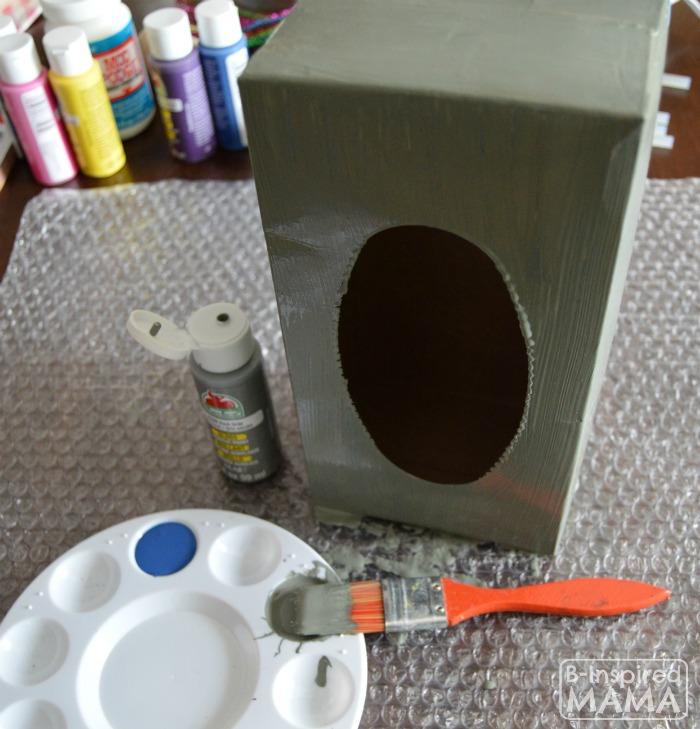 How to Make a Valentine Box Robot - Painting - B-Inspired Mama