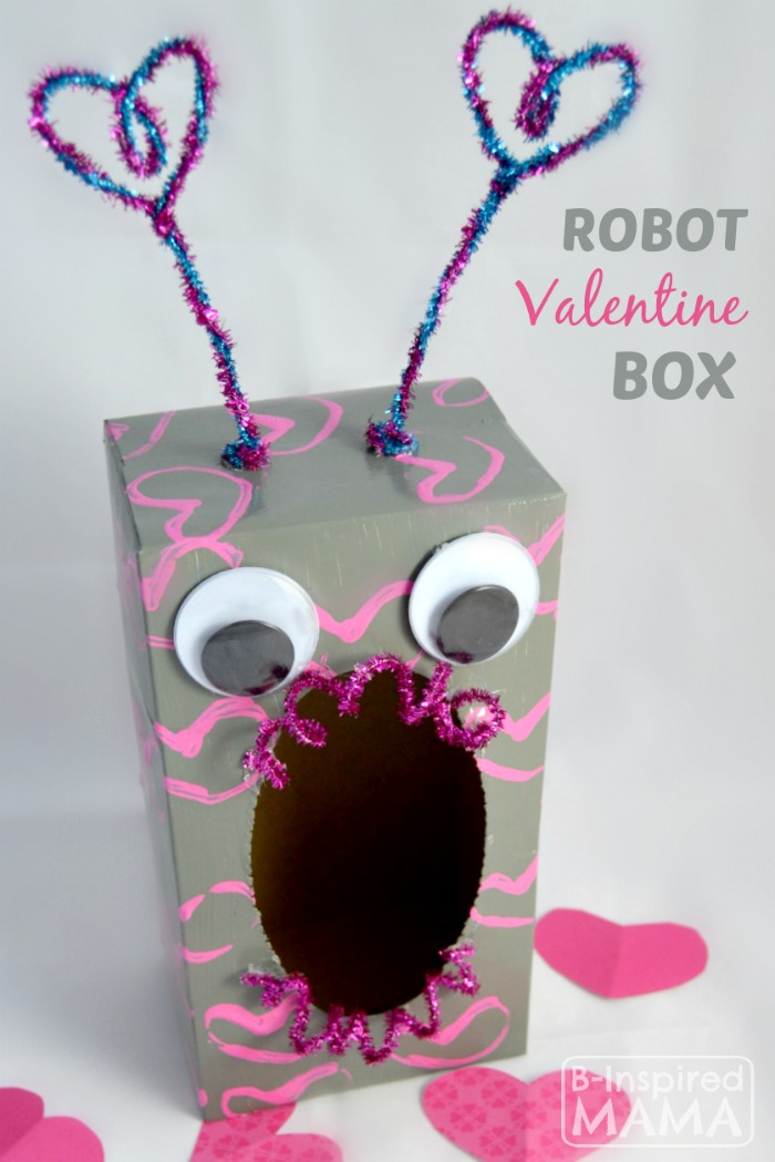 how to make a valentine box robot b inspired mama