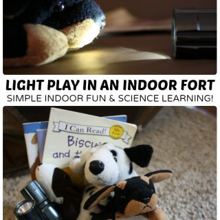 Simple Indoor Play - Exploring Light in a Kids Fort at B-Inspired Mama