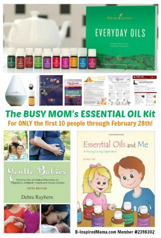 The Busy Mom's Best Essential Oils Starter Kit Deal at B-Inspired Mama