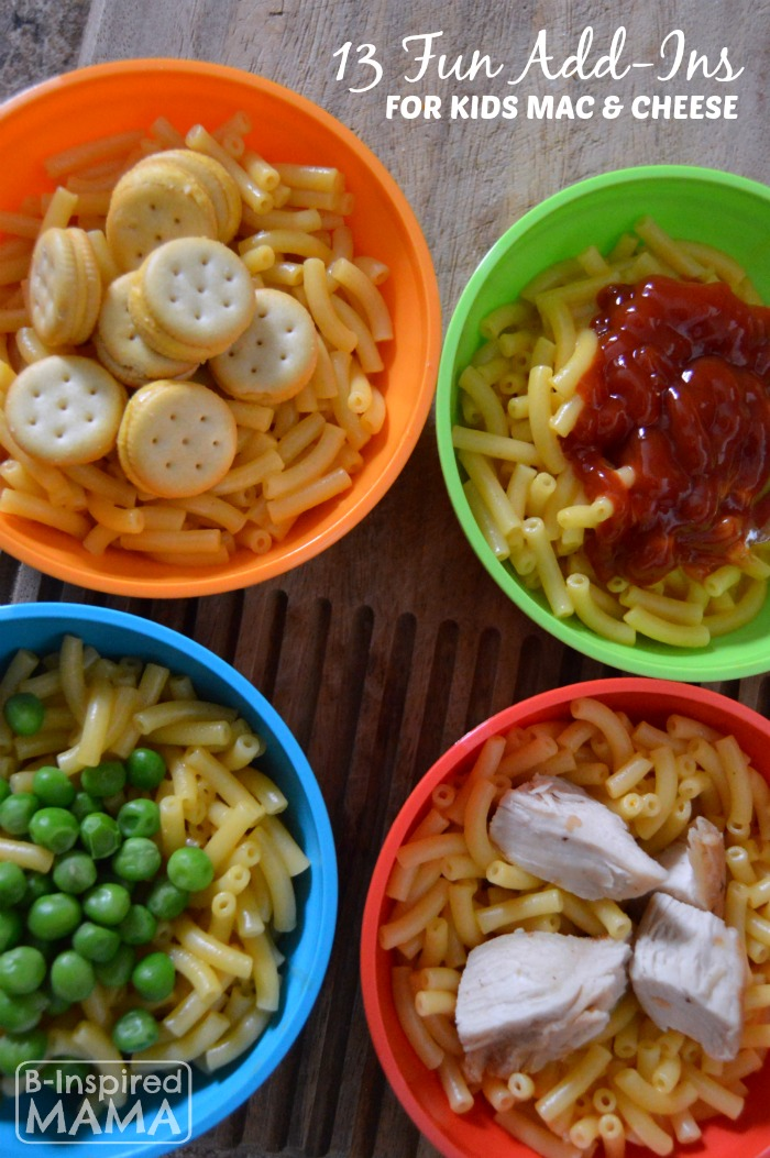 13 Fun Boxed Mac and Cheese Add-Ins - Get the Kids in the Kitchen with B-Inspired Mama